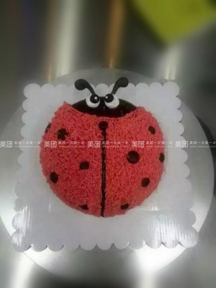 蛋糕盘子七星瓢虫手工制作图片