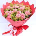 韩式康乃馨花束图片
