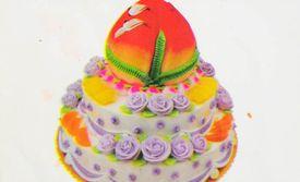 鲜奶 寿桃 价值 三层 圆形 水果蛋糕/仅售268元!价值328元的三层寿桃鲜奶水果蛋糕1个,约16英寸,...