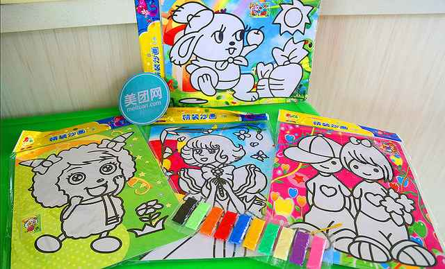 已售 1676人评价 【东风市场】棒棒糖儿童乐园沙画1个,棒棒糖儿童图片