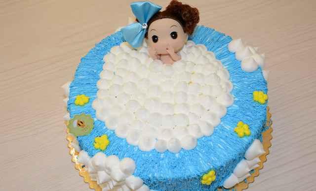 卡通小公主蛋糕1个,约2磅,圆形