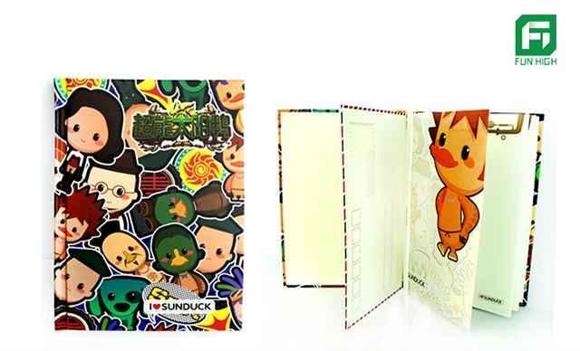 超能太阳鸭Q版笔记本