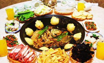 贵福木火铁锅炖鱼村-美团