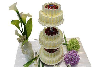 【常德法朵团购】法朵三层支架蛋糕团购 图片 价格