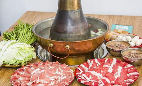 铜锅涮美食图片广告素材
