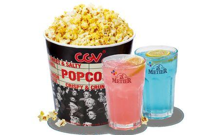 :长沙今日团购:【奥克斯广场】CGV星聚汇影城仅售41.5元!价值45元的爆米花(大桶)+2杯蜜蒂尔1份,提供免费WiFi。