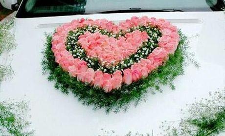 【周口情满人间鲜花团购】情满人间鲜花心形花车团购图片