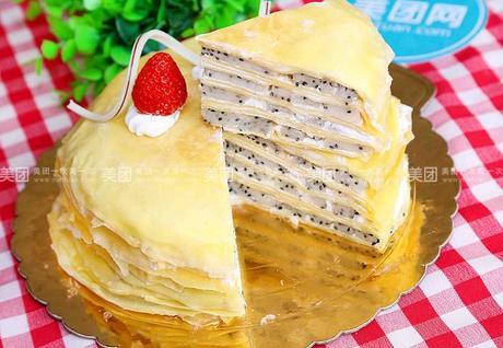 :长沙今日团购:【易初莲花】勺子甜品仅售148元!价值168元的香蕉千层1个,约8英寸,圆形。