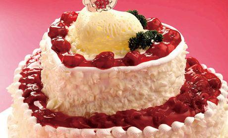 麦道蛋糕花园主题咖啡12英寸永结同心欧式蛋糕1个