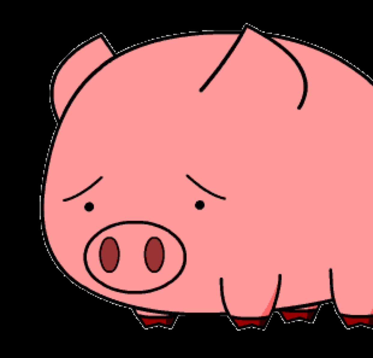 猪头晕卡通图片可爱