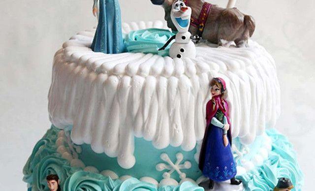 :长沙今日团购:【甜心蛋糕】冰雪奇缘公主单双层创意生日蛋糕芭比迷糊娃娃定制长沙同城配送1,约8英寸,双层