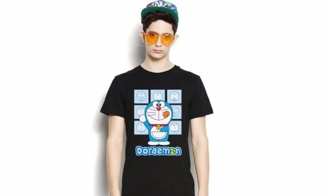 :全国今日团购:【哆啦A梦九宫格】正版授权电影周边商品T恤