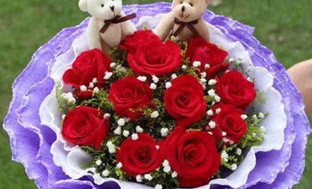 怀化花艺坊【花艺坊】玫瑰花花束包装,提供免费wifi