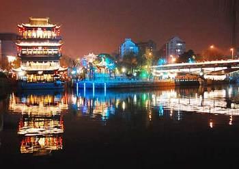 【武林广场】京杭大运河夜场船票19:30场(亲子票1大1小)-美团