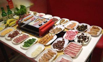 【上海】壹百分纸上自助烤肉-美团