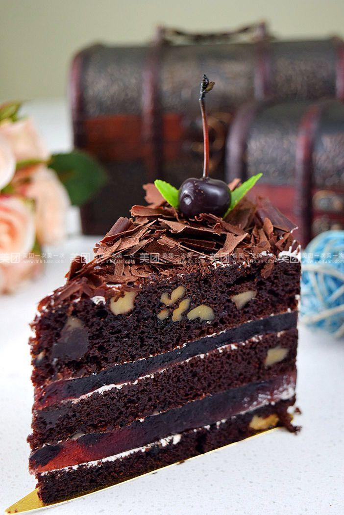 黑森林慕斯蛋糕 巧克力奶昔一杯