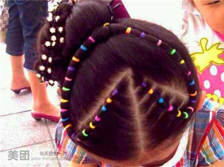 头彩儿童盘发图片展示