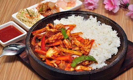双人套餐,赠送韩式小菜,提供免费打包服务