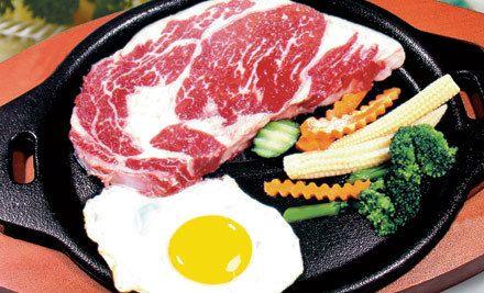 无骨牛小排1份,免费无限量自助沙拉,精选牛排,鲜嫩多汁