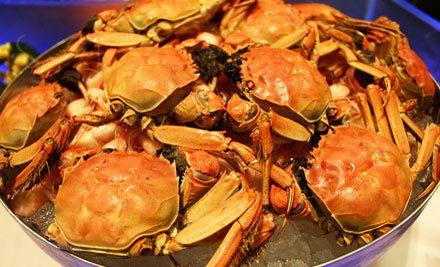 单人自助晚餐,有海鲜,美味独享