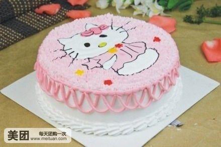 可爱kt猫蛋糕图片