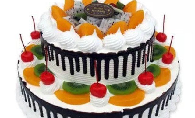 :长沙今日团购:【正品西点蛋糕】14英寸双层水果蛋糕1,约14英寸,圆