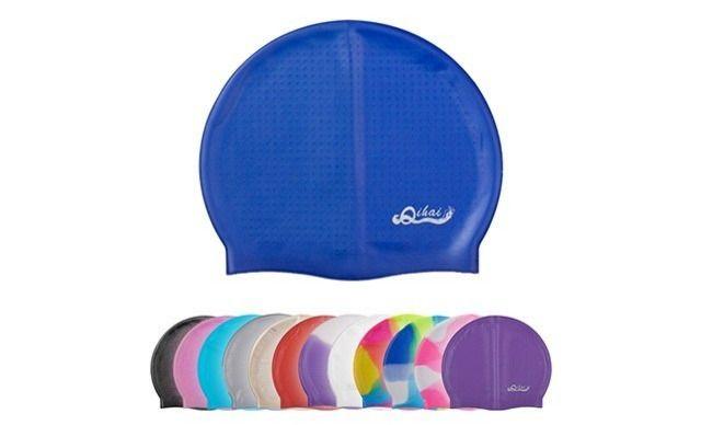 奇海硅胶泳帽,仅售15元!价值69元的奇海硅胶泳帽1个,奇海硅胶内防滑颗粒泳帽 纯色七彩防水护耳成人男女时尚泳帽