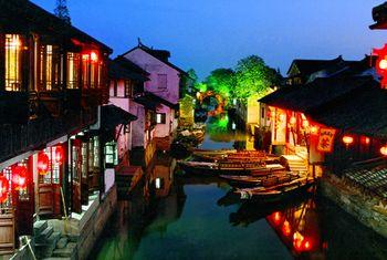 【上海出发】周庄、沈厅、全福讲寺等纯玩1日跟团游*夜游周庄赠送水上游船-美团