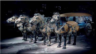 【西安出发】秦始皇兵马俑博物馆、华清宫、骊山纯玩1日跟团游*赠送自助中餐皮影摆件-美团
