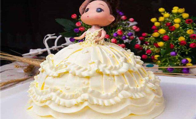 00门店价 ¥198 芭比娃娃异形双层蛋糕1个,约10英寸,圆形 ¥ 118.图片