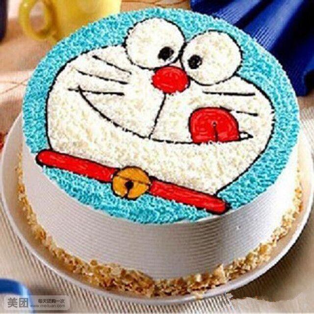 美食团购 蛋糕 港式烘焙坊   哆啦a梦规格:约3磅12英寸,圆 七色彩虹规