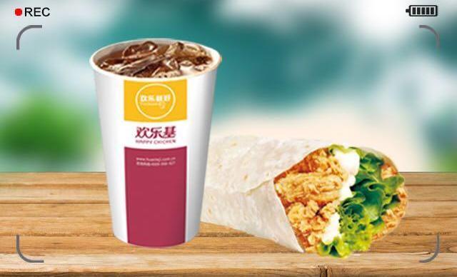 :长沙今日团购:【欢乐基】鸡肉卷单人餐,提供免费WiFi