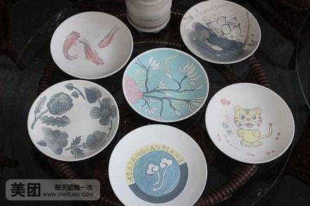 陶艺盘子手绘图案