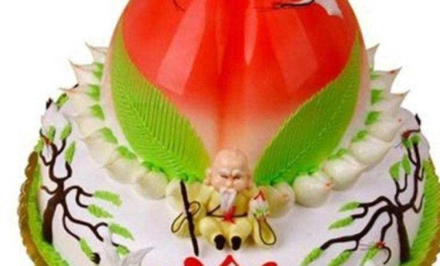 蛋糕/柏新园面包房寿桃蛋糕,仅售158.8元!价值208元的寿桃蛋糕1个...