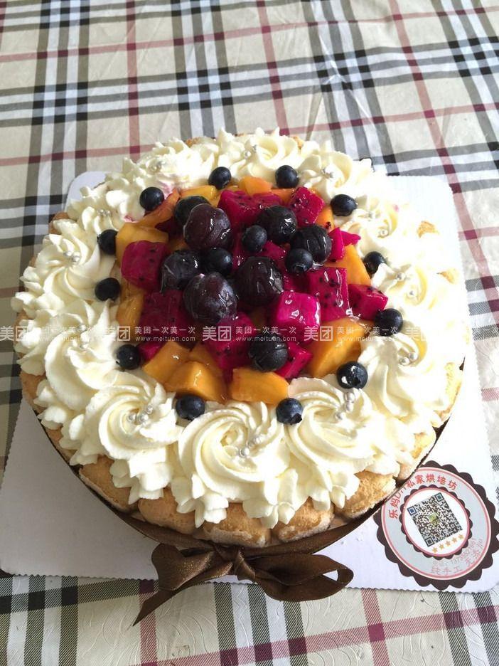 乐妈diy水果蛋糕