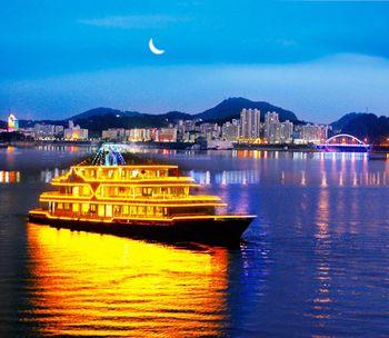 【淳安县】千岛湖夜游船(夜游码头)(18:00班次)画舫船(儿童票)-美团