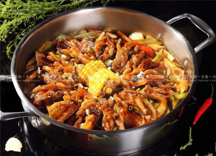 焖去骨冬瓜蘑菇营养排骨汤的鸭掌图片