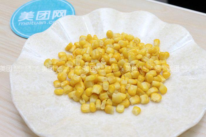 玉米粒手工制作汉堡图片