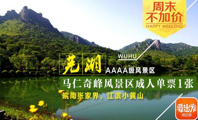 【】芜湖马仁奇峰风景区成人单票1张