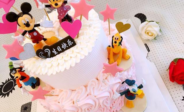 :长沙今日团购:【巴黎天使烘焙坊】8+6寸幼儿园,小学生过生日双层生日蛋糕1个,约14英寸,圆