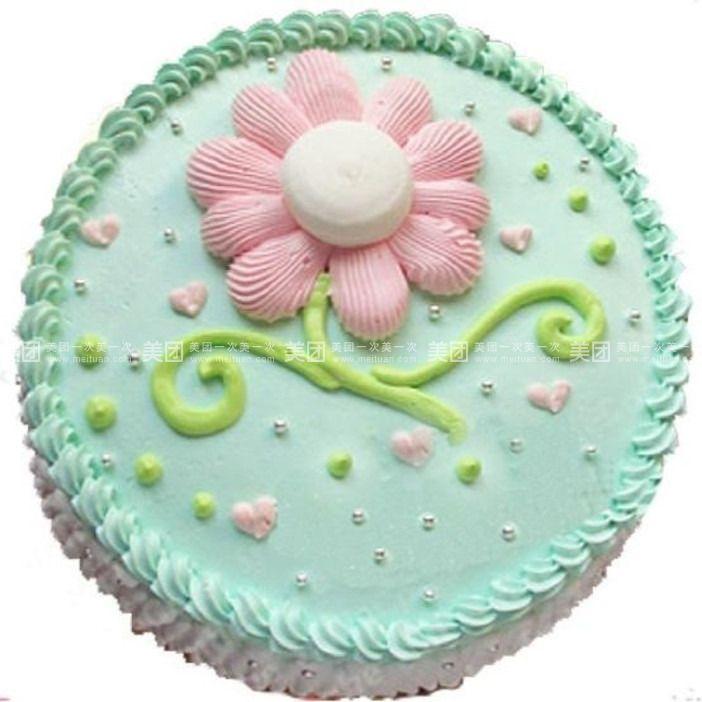 甜心烘焙手工diy坊   鲜花奶油蛋糕规格:约1 磅 1,圆形 奇趣图案蛋糕