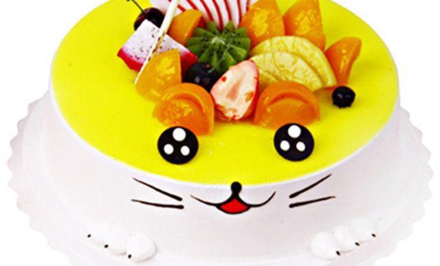 【爱多烘焙】卡通动物蛋糕1个