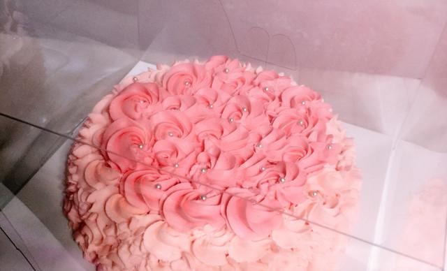:长沙今日团购:【野子烘焙diy工作室】铿锵玫瑰1个,约8英寸,圆形