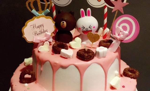 :长沙今日钱柜娱乐官网:【榴芒兔蛋糕坊】布朗熊生日 蛋糕1个,约10+8英寸,圆形