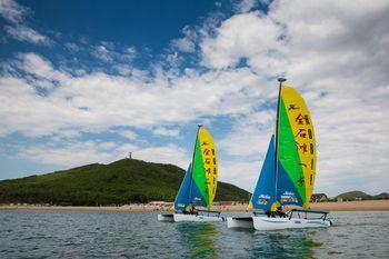 【金州区】虹帆悦海帆船航海体验亲子票(1大1小)-美团