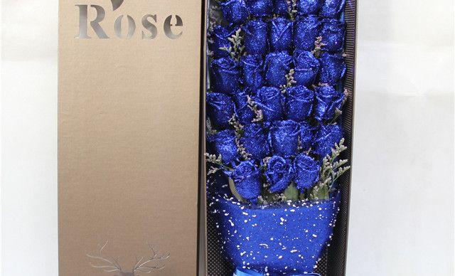 花火鲜花全城速递A级33朵蓝色妖姬礼盒玫瑰花一束,春节、情人节、生日送花。 送女朋友、老婆、闺蜜朋友、领导鲜花礼物礼品。 专人专,仅售258元!价值688元的A级33朵蓝色妖姬礼盒玫瑰花一束,春节、情人节、生日送花。 送女朋友、老婆、闺蜜朋友、领导鲜花礼物礼品。 专人专车配送上门,免费送贺卡。可以随意搭配【下单后最早2-3小时送达 】,提供免费WiFi