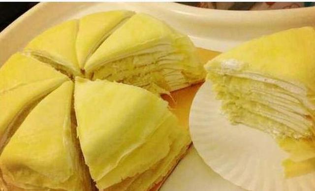 :长沙今日钱柜娱乐官网:【肆月甜品蛋糕】6英寸榴莲千层1个,约6英寸,圆形