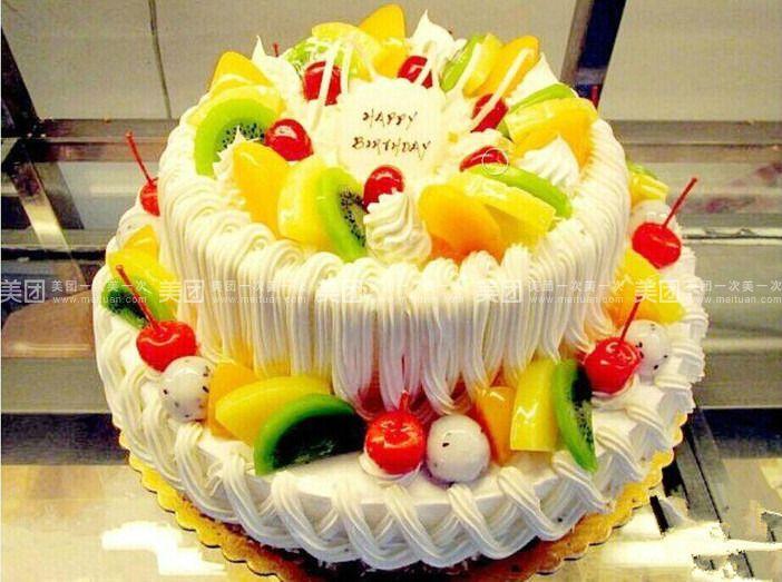 欧式双层蛋糕款式1图片