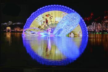 【杨公堤】G20版印象西湖《最忆是杭州》画舫区(小画舫)上层第一场(成人票)-美团