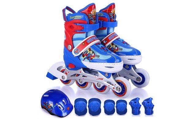 :全国今日团购:【超蝙正版儿童溜冰鞋】超人大战蝙蝠侠正版儿童溜冰鞋一双
